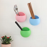 New Wall Suction Cup Toothbrush Rack Toothpaste Holder Storage Organizer WE