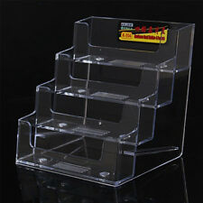 Elegant Design 4 Pocket Acrylic Desk Top Business Gift Card Holder-4 Tier Clear