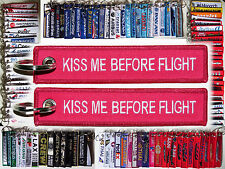 Keyring KISS BEFORE FLIGHT Remove Before Flight tag perfect gift for airhostess