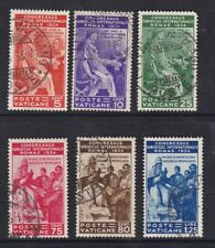Vatican 1934 Juridical Congress set 6 SG41-46 used - see description