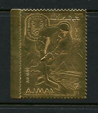 M161   Ajman 1968   Olympics ICE HOCKEY  GOLD FOIL  1v.   MNH