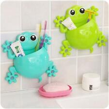 Cartoon Gecko Toothpaste Holder Plastic Wall Sucker Hook Tooth Brush Holder