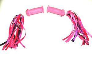 Widek Kinder Fahrradgriff Pink mit Lenkerfransen Textil Pink/Lila 21005+02947 W