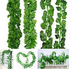 4Pcs Ivy Leaf Garland Green Plant Plastic Vine Foliage Home Garden Decor 200Cm