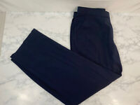 INVESTMENTS Straight Fit Dress Pants Womens 14W Plus Size Navy Blue Career G1