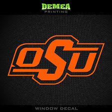 "Oklahoma State - Cowboys - OSU - NCAA - Orange Vinyl Sticker Decal 5"""