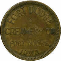 Fort Dodge Creamery Co. Fort Dodge, Iowa IA One Quart Milk Trade Token