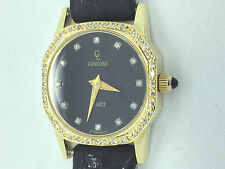 Concord Mariner 20mm 18K Gold Diamond Dial Diamond Case Watch Wristwatch Ladies