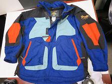 VTG Descente Techno Ski Board Jacket Retro Pullover 1/2 Zip Wild Bold BIG Multi
