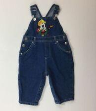 NWT Disney Store 6 M Mickey Mouse Tool Box Denim Jean Overalls