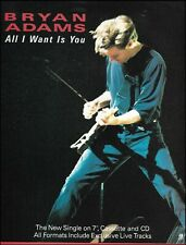 Bryan Adams All I Want Is You 1992 advertisement 8 x 11 A&M ad print