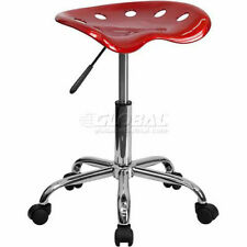 Tractor Seat Amp Chrome Stool Vibrant Wine Red