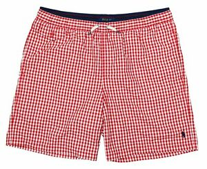 Polo Ralph Lauren Big Boys Checkered Swimwear Bathing Suit XL/18-20 NWT Red