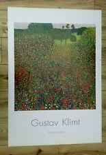 Gustav Klimt Mohnblumenfeld Large Art Print - 39.5 x 27.5ins