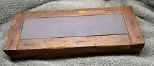 Antique/Vintage Knife Razor Hone Sharpening Stone Whetstone in Wood Holder