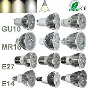 1-10X Dimmable LED Spot Light Bulbs GU10 MR16 E27 E14 9W 12W 15W 220V White Lamp