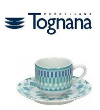 "Set 6 tazzine caffè Tognana, linea sfera ""Blue app"", turchese, moderno"