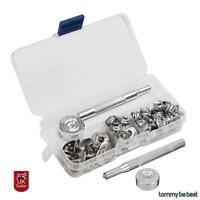 62pcs 15mm Poppers Snap Fastener Kit Boat Canopy Stainless Canvas To Screw Press