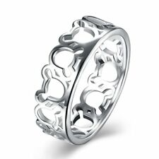 Fashion 925Sterling Solid Silver Jewelry Geometry Rings For Women R942