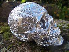 347065 CHROME   FIGURINE  CRANE TETE DE MORT    GOTHIQUE HEROIC FANTASY TRIBAL
