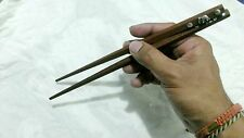 100 Set Thai Wooden Chopsticks Cover Silk bag Elephant Silver Collectibles