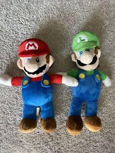 """Nintendo Super Mario Bros. Mario and Luigi Plush Doll 8.5"""" 2pcs"""