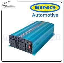 Anillo de 1000 vatios 12v senoidal pura inversor C/w RCD alquiler de autocaravana Caravan rinvpr1000