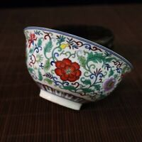 Chinese Old Porcelain Blue and white flower pattern bowl