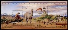 Prähistorische Tiere. Dinosaurier. Block. Australien 1993