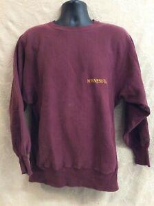 Vintage Champion Reverse Weave maroon red Sweatshirt Minnesota State USA XL ball