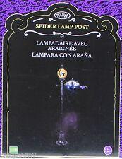 Halloween Holiday Living 6 ft Spider Lamp Post Lights Up & Flickers NIB