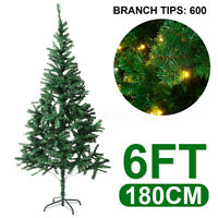 6Ft 750Pines Artificial PVC Christmas Tree Green Xmas Holiday Season W/Stand