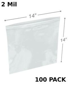 Clear Plastic 200 5x12 Zipper Line Zip Top 2-Mil Reclosable Lock to Seal Bags