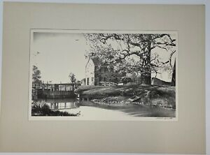 Original '49 STOW WENGENROTH 'Along the Canal' Lambertville NJ Lithograph - MINT