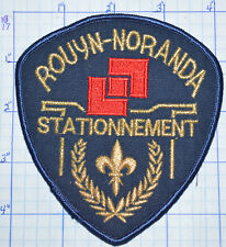 CANADA, ROUYN-NORANDA STATIONNEMENT PARKING POLICE QUEBEC PATCH