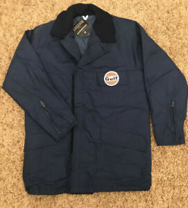 Vintage Gulf Rain Waterproof Coat Jacket W/Collar - Dunloprufe Blue Medium