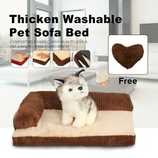 Small Size Washable Thick Pet Dog Cat Sofa Beds Cushion Pet Cat Warm House ~