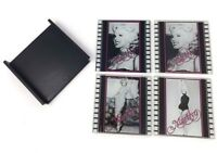 Marilyn Monroe Glass Coasters Set of 4 With Holder Collectibles Drink Coasters