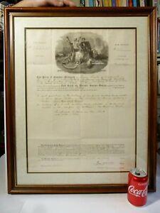 1881 North British Mercantile Insurance James Burks of Warkworth Certificate