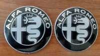 2 PEZZI Stemma NERO ALFA ROMEO GIULIA 2016 Giulietta 147 159 Logo Fregio Emblema