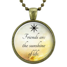 Perfect Gift For Best Friend Necklace, BFF Jewelry Friendship Quotes Charm