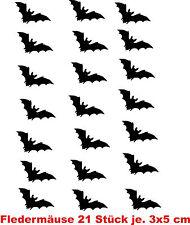 Fliesen Aufkleber Fledermaus 21 Stück für Bad Küche Wohnzimmer Möbel Farbe frei