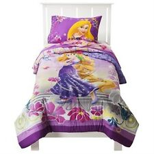 New Disney Tangled Rapunzel Magic Comforter Flat Fitted  Sheet Twin 4 Pieces