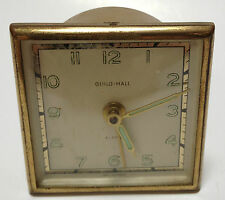 Vintage Guild Hall Alarm Clock West Germany AS-IS