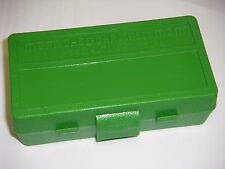MTM Case Gard™ 50 Round Ammo Box Pistol Flip Top SOLID GREEN P50-38-10 38/357