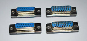 15 WAY D TYPE CONNECTORS MALE AND FEMALE SOLDER BUCKET D-SUB - 2 PAIRS