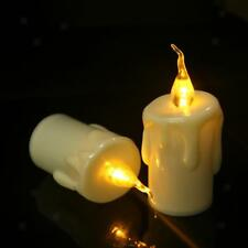 6x Electric LED Tealight Candle Flameless Pillar Candle Warm White 118mm