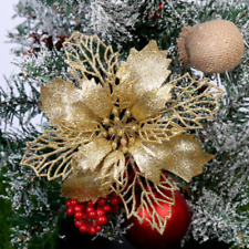 5PCS Glitter Xmas Hollow Flower Christmas Tree Hanging Ornament Party Home Decor