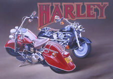 Harley Davidson Motorcycle Motorbike Birthday Fathers Day Card