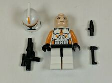 COMMANDER CODY Authentic LEGO Star Wars Minifigure Orange Clone Set 7676